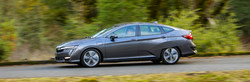 The 2018 Honda Clarity Plug-In Hybrid, shown above, recently arrived at Matt Castrucci Honda in Dayton.