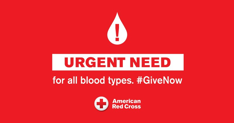Urgent Need for all Blood Types. #GiveNow