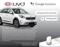 Kia Motors America Introduces Google Assistant Into The Award- Winning UVO Infotainment System