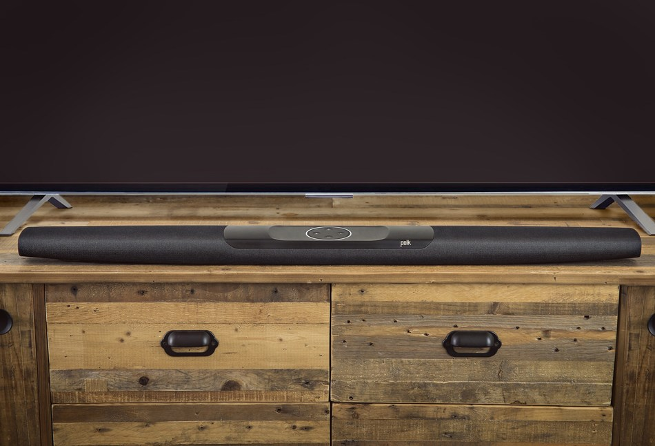 The Polk Command Bar, the first announced voice-controlled sound bar with the Amazon Alexa Voice Service built in.