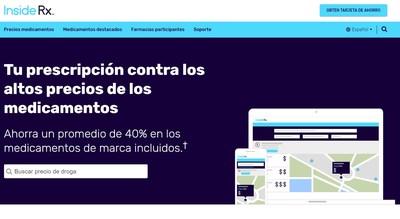Inside Rx en español: Compañía lanza sitio web en español para consumidores que buscan descuentos en medicamentos recetados. Más información en www.insiderx.com/es.