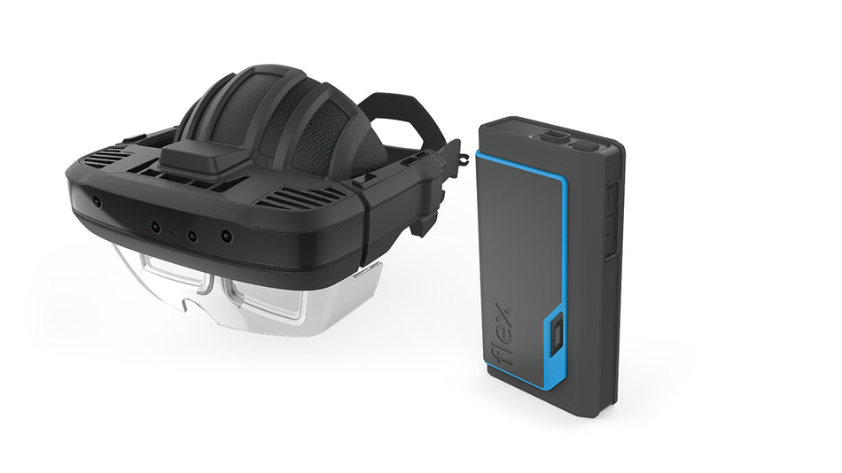 Flex designed augmented reality headset and belt pack reference design