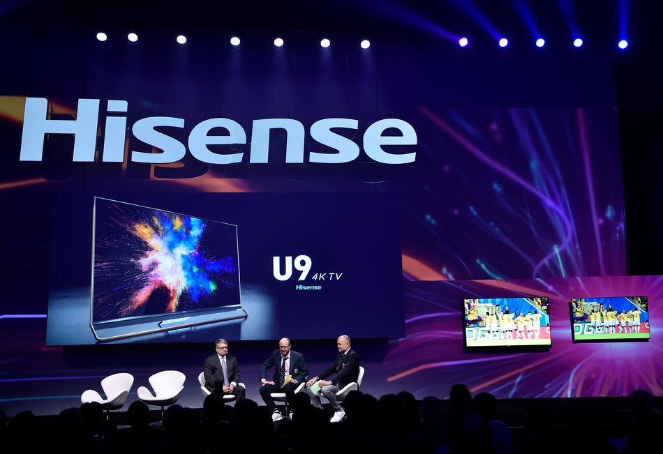 Hisense U7 ULED TV, the World Cup Special Edition TV, and Hisense U9 ULED TV, the World Cup Limited Edition TV have been launched at the press conference.