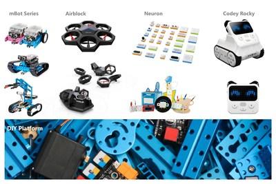 Makeblock dispose de la gamme de produits la plus complète de l'industrie (PRNewsfoto/Makeblock)