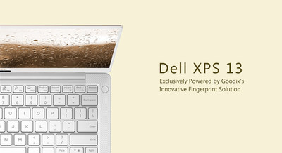 Dell XPS 13 - Exclusively Powered by Goodix's Innovative Fingerprint Solution