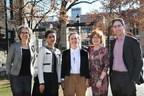 University of Toronto Faculty of Applied Science & Engineering. From left to right: Brenda McCabe, Daman Panesar, Shoshanna Saxe, Heather MacLean, Daniel Posen. (CNW Group/EllisDon Corporation)