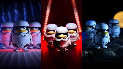 El muñeco creado conjuntamente por QQ y Disney para Star Wars: El último Jedi (PRNewsfoto/Tencent Holdings Limited)