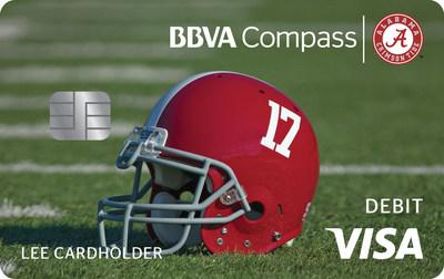 BBVA Compass' Bama-branded Visa® debit card.