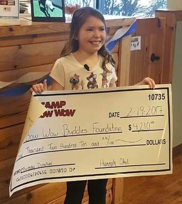 Ten-year-old Hannah Okel asked for donations to the Bow Wow Buddies Foundation in lieu of birthday gifts.