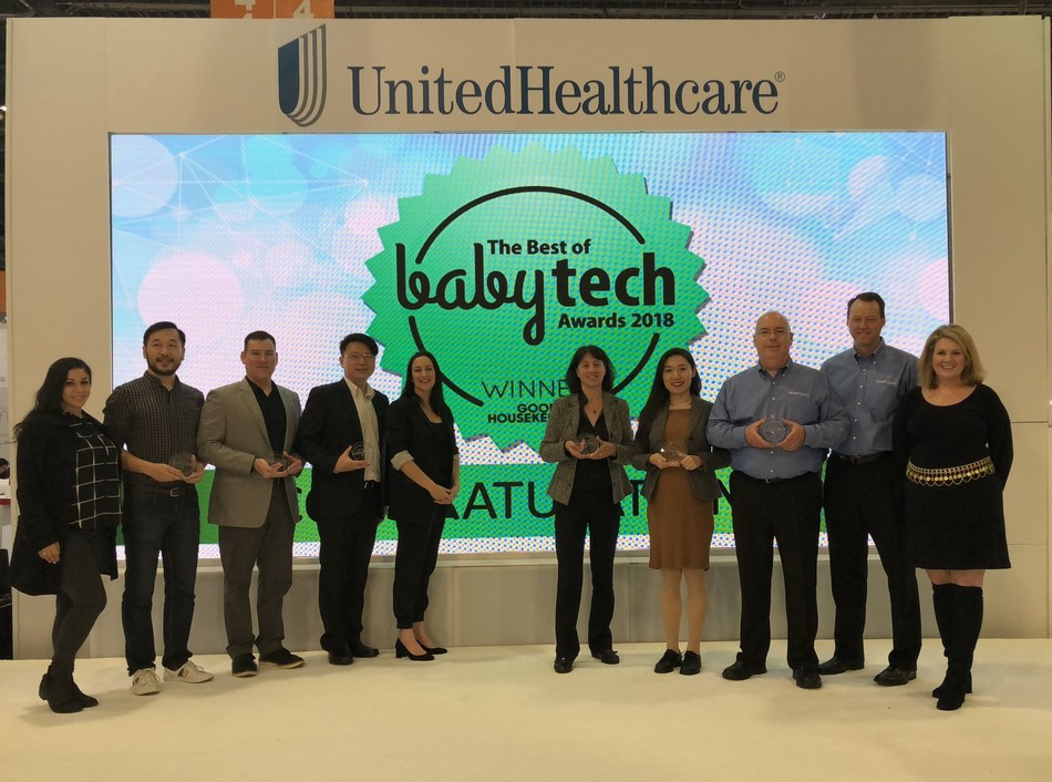 The winners of the 3rd Annual Best of BabyTech Award on stage at CES 2018