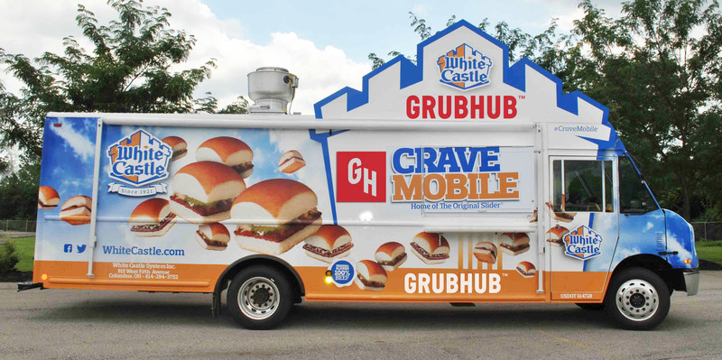 Grubhub and White Castle® partnership kicks off with sweepstakes to win Crave Mobile® food truck delivery during football's biggest night