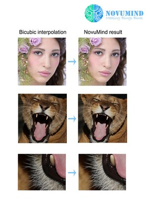 Powered by NovuTensor, NovuMind super-resolution improves the image rate of display in real time.