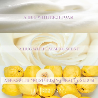 Feel the happiness as if you are hugged by rich foam, scent of natural essential oil, and moisturizing beauty serum.