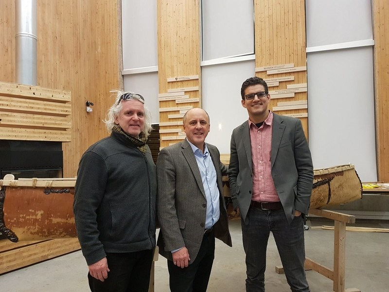 Dr. Galvin, McEwen School of Architecture Founding Director with Interim President and Vice Chancellor, Dr. Zundel and Dr. David Fortin, Director of the McEwen School of Architecture (CNW Group/Laurentian University)