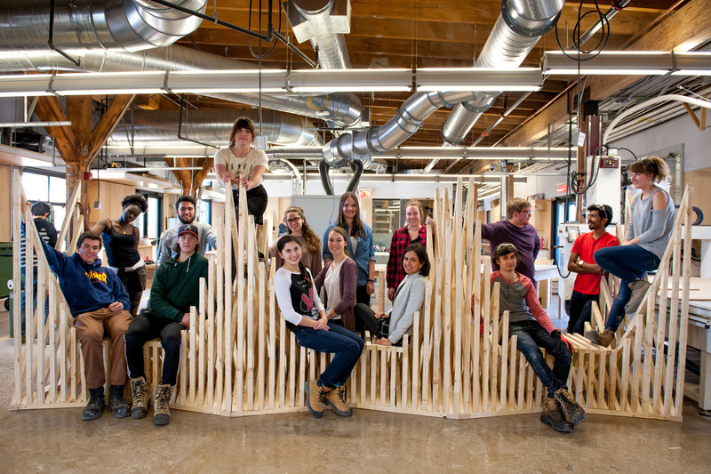 McEwen School of Architecture students display Warming Hut project (CNW Group/Laurentian University)