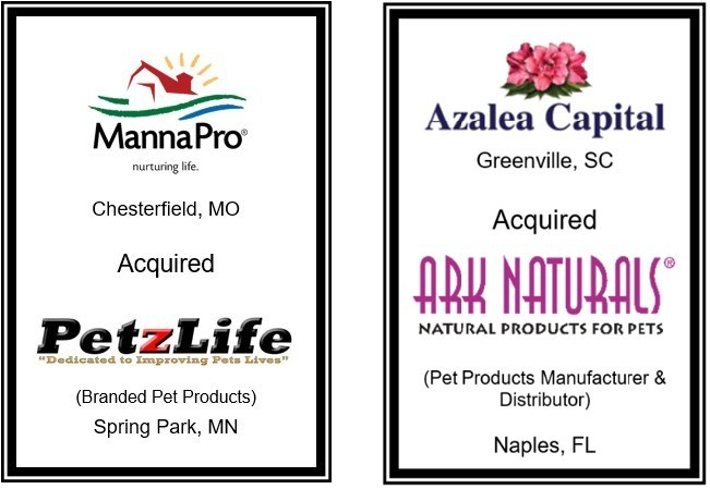 Aleutian Capital Group Closes Two Recent M&A Transactions in the Pet Products Industry
