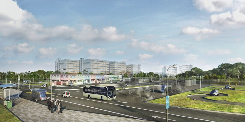 Volvo and NTU will test autonomous, electric buses at the advanced test circuit CETRAN in Singapore (PRNewsfoto/Volvo)
