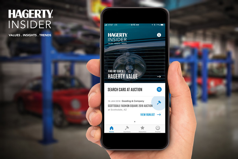 Car Auction Apps >> Hagerty Launches Insider App In Time For Arizona Auctions