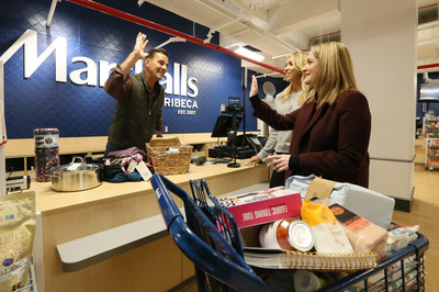 Bill and Giuliana Rancic surprise a lucky shopper Tracey Varner and help her set and keep her New Year family resolutions at Marshalls in Tribeca on Wednesday, Jan. 10, 2018 in New York City.