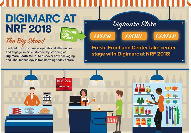 Stop by NRF booth #2875 and discover how Digimarc Barcode benefits retailers.