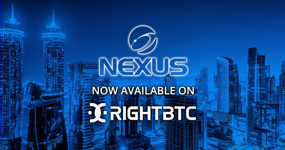 NEXUS Now Available on RightBTC