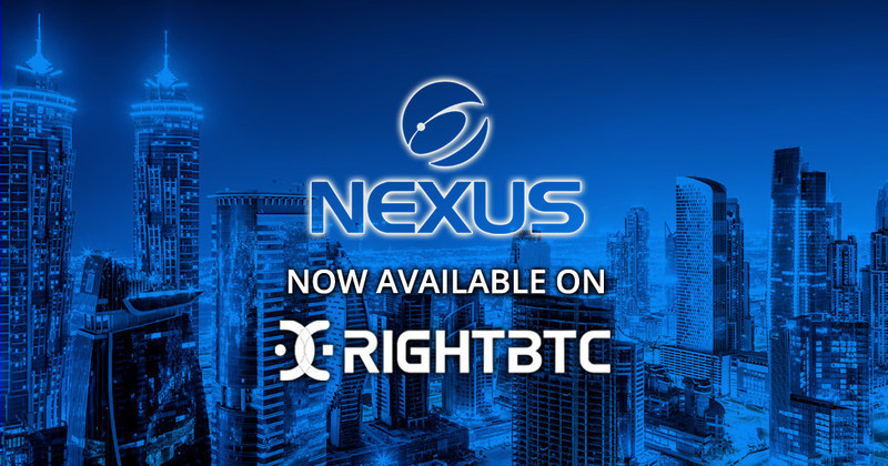 NEXUS Now Available on RightBTC