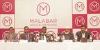 Left to Right: Mr. Abdul Salam KP - Group Executive Director, Malabar Group, Mr. Shamlal Ahamed, Managing Director - International Operations, Malabar Gold & Diamonds, Mr. MP Ahammed - Chairman, Malabar Group, Dr. PA Ibrahim Haji - Co - Chairman, Malabar Group, Mr. Ameer CMC, Director - Finance & Admin, Malabar Gold & Diamonds during the announcement of launching 200 showrooms globally at a press meet held in Dubai. (PRNewsfoto/Malabar Gold and Diamonds)