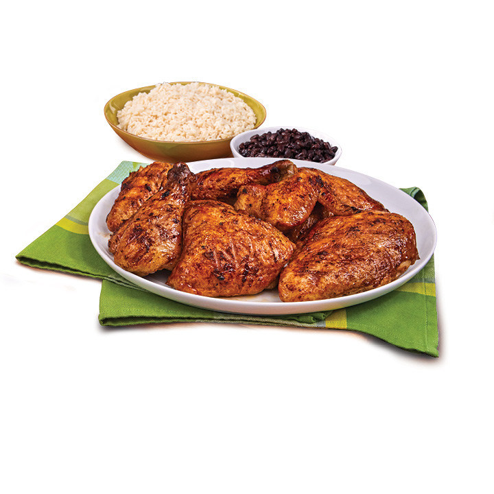 Pollo Tropical's Whole Chicken Meal with White Rice and Black Beans