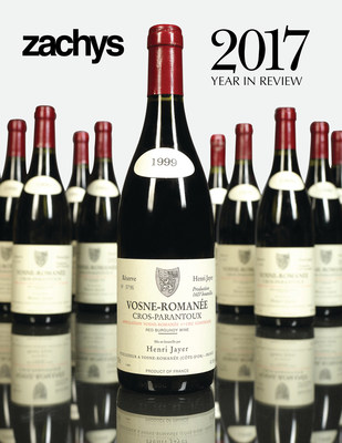 One region on collectors' minds in 2017 was Burgundy. Six lots of Vosne Romanée Cros Parantoux Henri Jayer dominated Zachys' Top 10 Lots of 2017, realizing over $100,000 per lot.