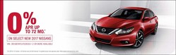 Glendale Nissan is offering 0 percent financing to highly qualified shoppers.