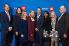 From left: Cam Fowler, President, BMO North American Personal & Business Banking; Janice McDonald, President, The Beacon Agency; Lisa Milburn, CMO BMO Wealth Management & Executive Sponsor BMO for Women; Joanna Rotenberg, Head, BMO Wealth Management; Darryl White, CEO, BMO Financial Group; Hon. Bardish Chagger, Minister, Small Business & Tourism, Government of Canada; Clare Beckton, Executive in Residence CREWW, Carleton University; Andrew Irvine, Head of BMO Business Banking Canada & Partners. (CNW Group/BMO Financial Group)