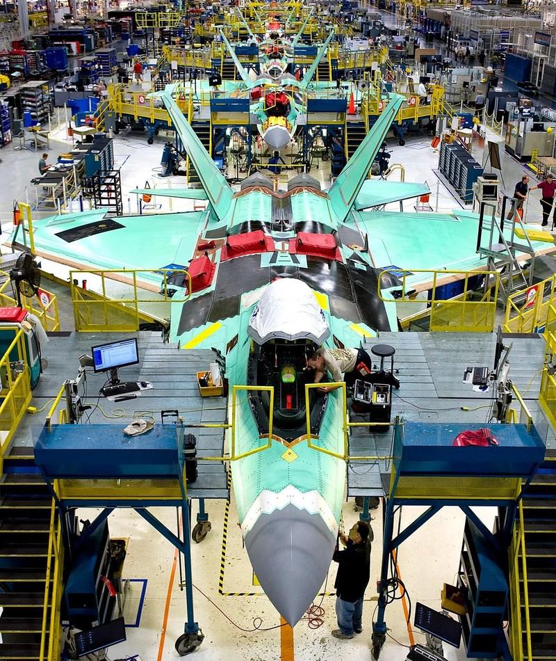 F-22 Raptor being built