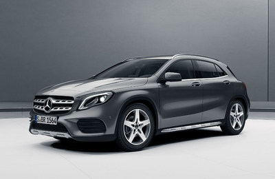The 2018 GLA 250 SUV, pictured here, is one of the models included in the new year special lease offers from Mercedes-Benz of Scottsdale.