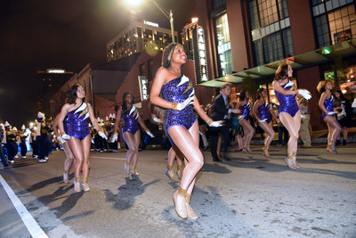 New Orleans� own Warren Easton High School Marching Band gives the new Cambria Hotel New Orleans Warehouse District a warm welcome at the grand opening celebration.