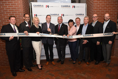 Cambria Hotels opens in the New Orleans Warehouse District, with governor John Bel Edwards and Mayor-elect LaToya Cantrell and other VIP guests.