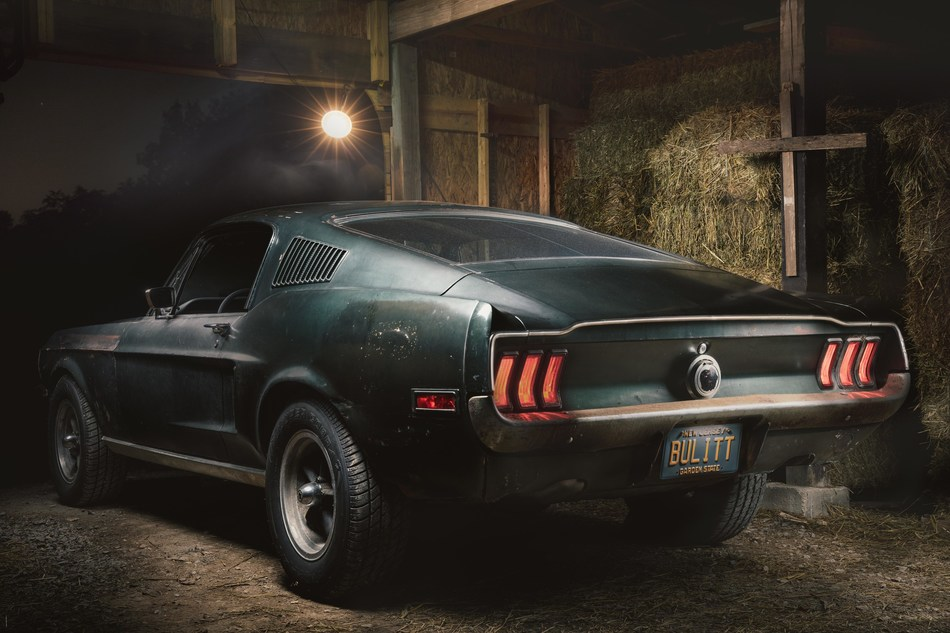 Original 1968 Mustang '559 from movie Bullitt in Nashville barn. Courtesy of HVA, Casey Maxon
