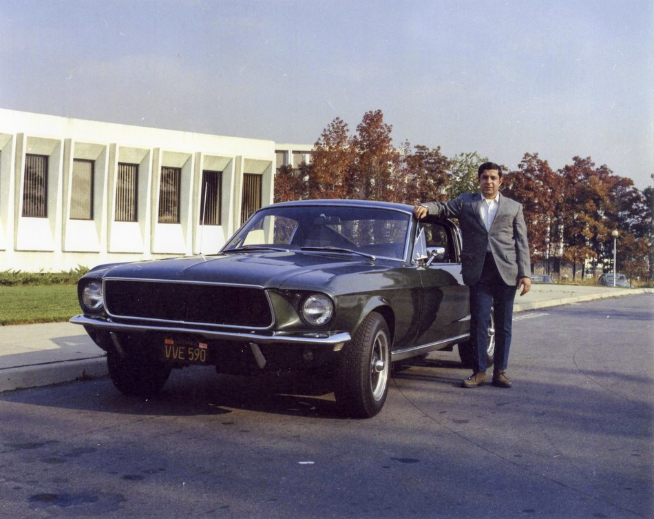Former owner of 1968 Mustang from movie Bullitt. Courtesy of Detective Frank Marranca 1972