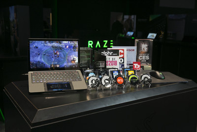 "Razer takes home over 20 ""Best of CES"" awards combined for its Project Linda mobile computing prototype, and new wireless HyperFlux technology"