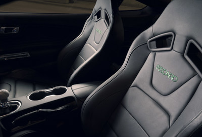 With seats designed by Recaro Automotive Seating, Ford is introducing the special edition Ford Mustang Bullitt. The Recaro Performance seats come with black leather trim and unique green accent stitching.