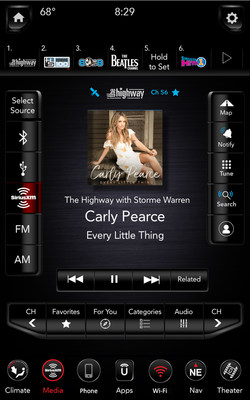 "SiriusXM with 360L: The ""Related"" function gives you one touch access to content similar to what you are currently listening to."