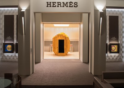 The Hermes pavilion once again accentuates the Hermes approach to time. An open-minded, warm and transparent spirit. (PRNewsfoto/Hermès)