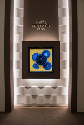 Interactive, entertaining and mesmerising. Examples of pusher-activated kinetic art, nine displays invite visitors to play with Hermes time. (PRNewsfoto/Hermès)