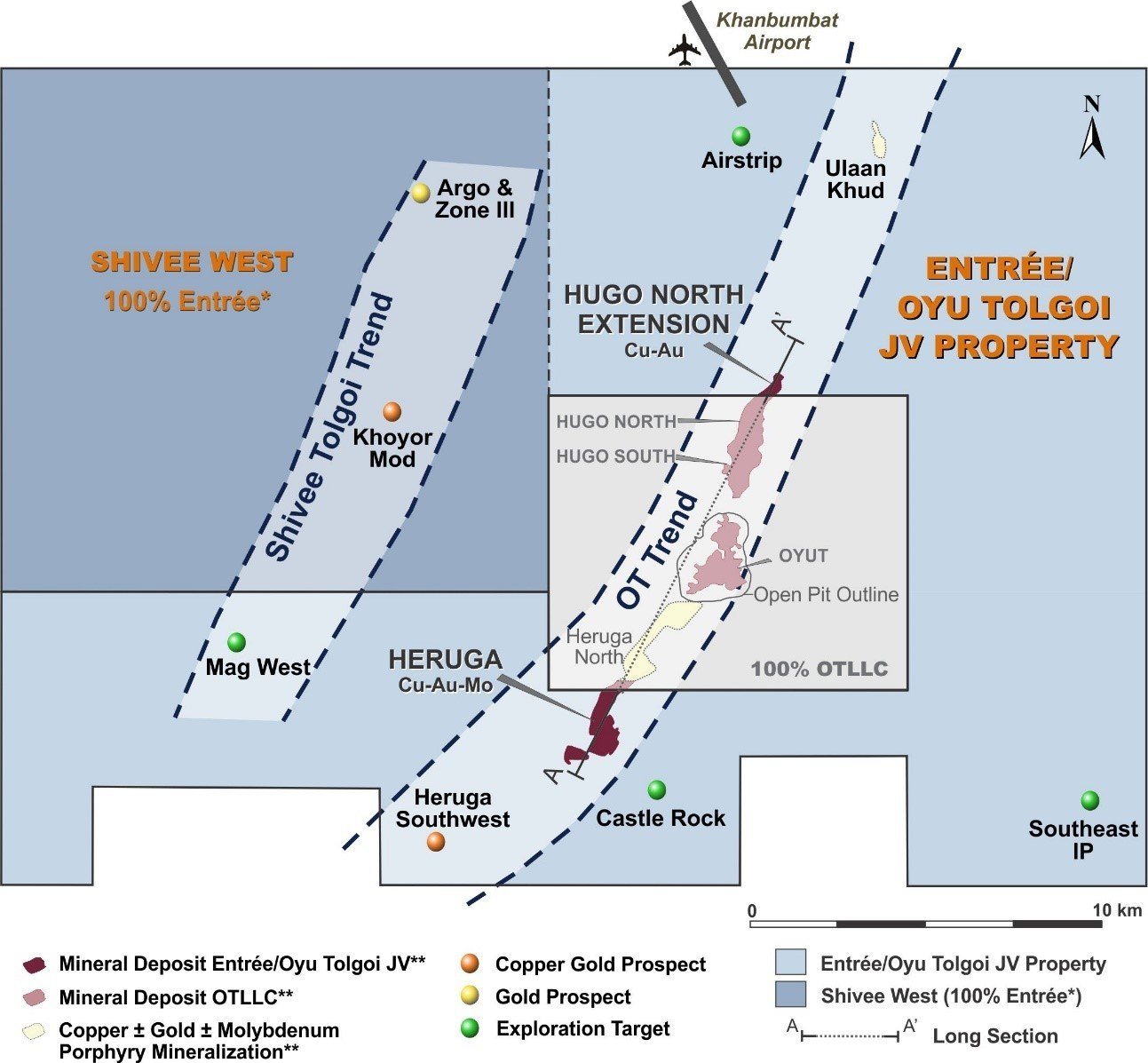 Figure 1 – Entrée/Oyu Tolgoi JV Project (CNW Group/Entrée Resources)