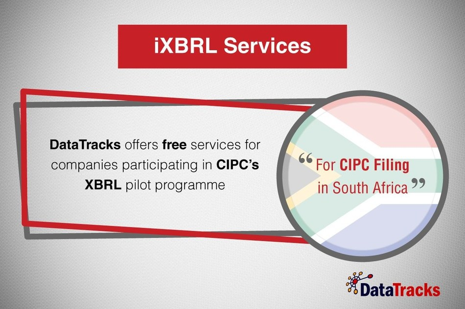 DataTracks iXBRL services for CIPC filing in South Africa (PRNewsfoto/DataTracks Services Limited)