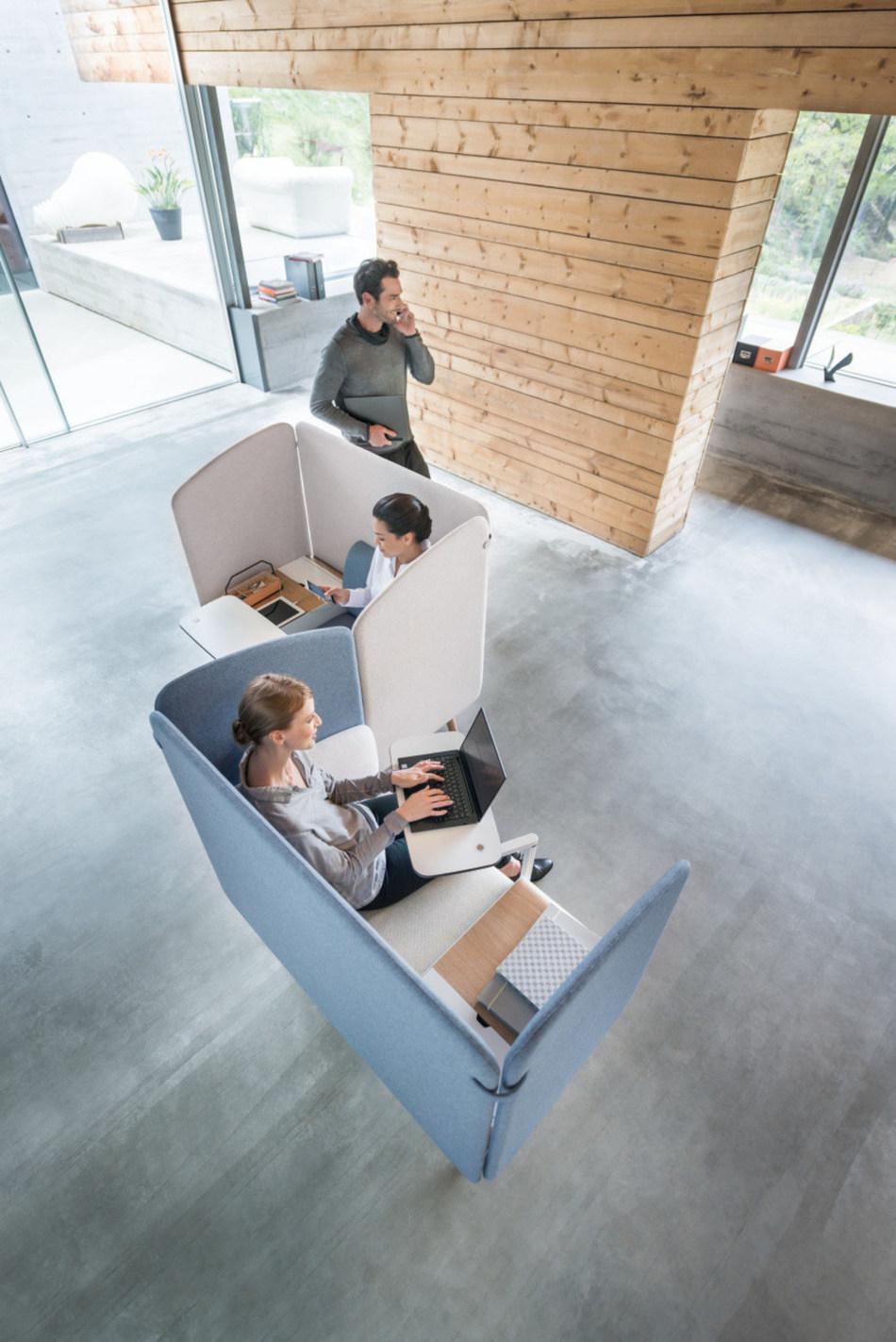 Open for modern forms of work: Sedus se:works. Photo: Sebastian Bullinger (PRNewsfoto/Sedus Stoll AG)