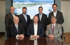 Standing left to right: Silicon Ranch board member Byron Smith; Shell GM Solar Projects, Shell New Energies, Boris Schubert; Silicon Ranch Co-Founder and CFO Reagan Farr; Silicon Ranch Chief Corporate Development Officer David Vickerman; Sitting left to right: Silicon Ranch Chairman Phil Bredesen; Shell VP of Solar Marc van Gerven; Silicon Ranch Co-Founder and CEO Matt Kisber