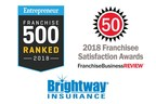 Brightway Insurance named a top franchise by Entrepreneur magazine and Franchise Business Review
