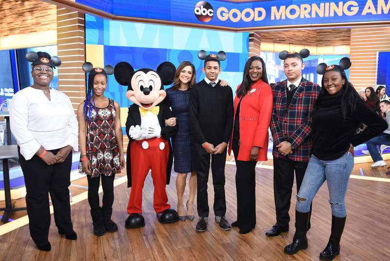 "Five high school students are surprised live on ""Good Morning America"" in New York City Monday, Jan. 15, 2018 with the announcement that they were selected to be part of this year's exclusive Disney Dreamers Academy event with Steve Harvey and ESSENCE Magazine at Walt Disney World in Florida. The students include Ayanna Adams of Los Angeles; Christiana Oka for of Houston; Marquis Thomas of Virginia Beach, Va.; Ava Marie Easter of Los Angeles and Sean Smith of Basking Ridge, N.J. In March, as part of Disney Dreamers Academy, a total of 100 pre-selected students known as ""Disney Dreamers,"" will embark on a journey throughout the Walt Disney World theme parks for a fun and educational experience to discover new careers and pursue their dreams. (ABC/Paula Lobo) L-R: CHRISTIANA OKAFOR, AVA MARIE EASTER, MICKEY MOUSE, PAULA FARIS, SEAN SMITH, TRACEY POWELL, MARQUIS THOMAS, AYANNA ADAMS"