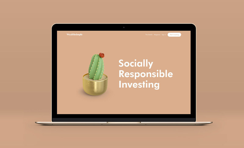 Wealthsimple launches Socially Responsible Investing portfolio (PRNewsfoto/Wealthsimple UK Ltd)