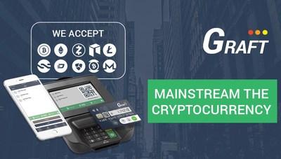 Legenda: A Graft é a primeira rede global de gateway de pagamento open source em blockchain projetada para pontos de venda (PRNewsfoto/Graft)